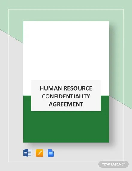 HR Confidentiality Agreement Template Download 177+ Agreements in