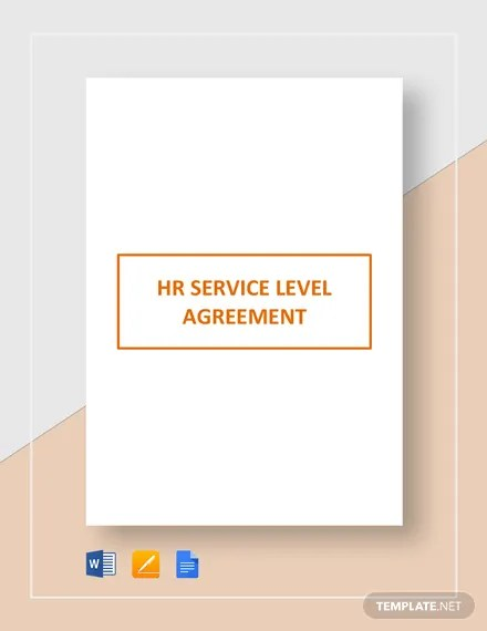 HR Service Level Agreement Template Download 331+ Agreements in