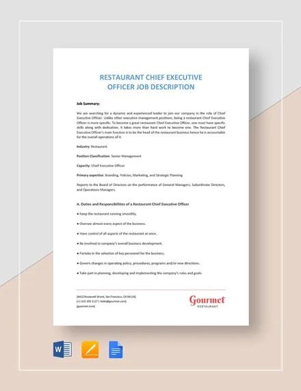 12+ Chief Operating Officer Job Description Templates - Free Sample