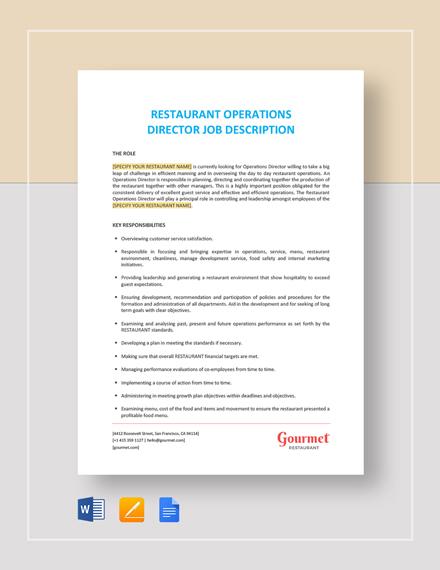 Director Of Finance Job Description Template Download 81+ HR