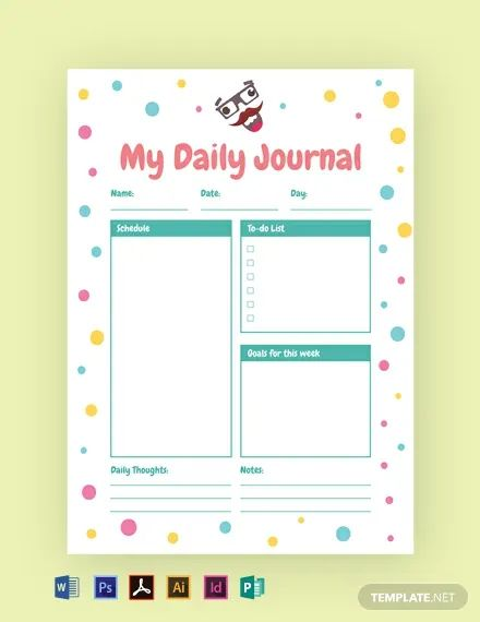 diary template word