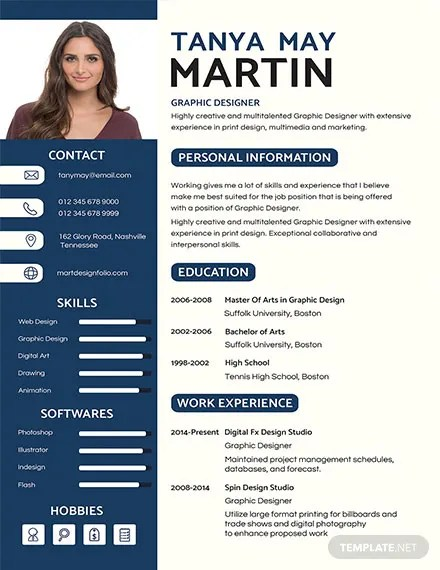 FREE Professional Resume and CV Template Download 160+ Resume