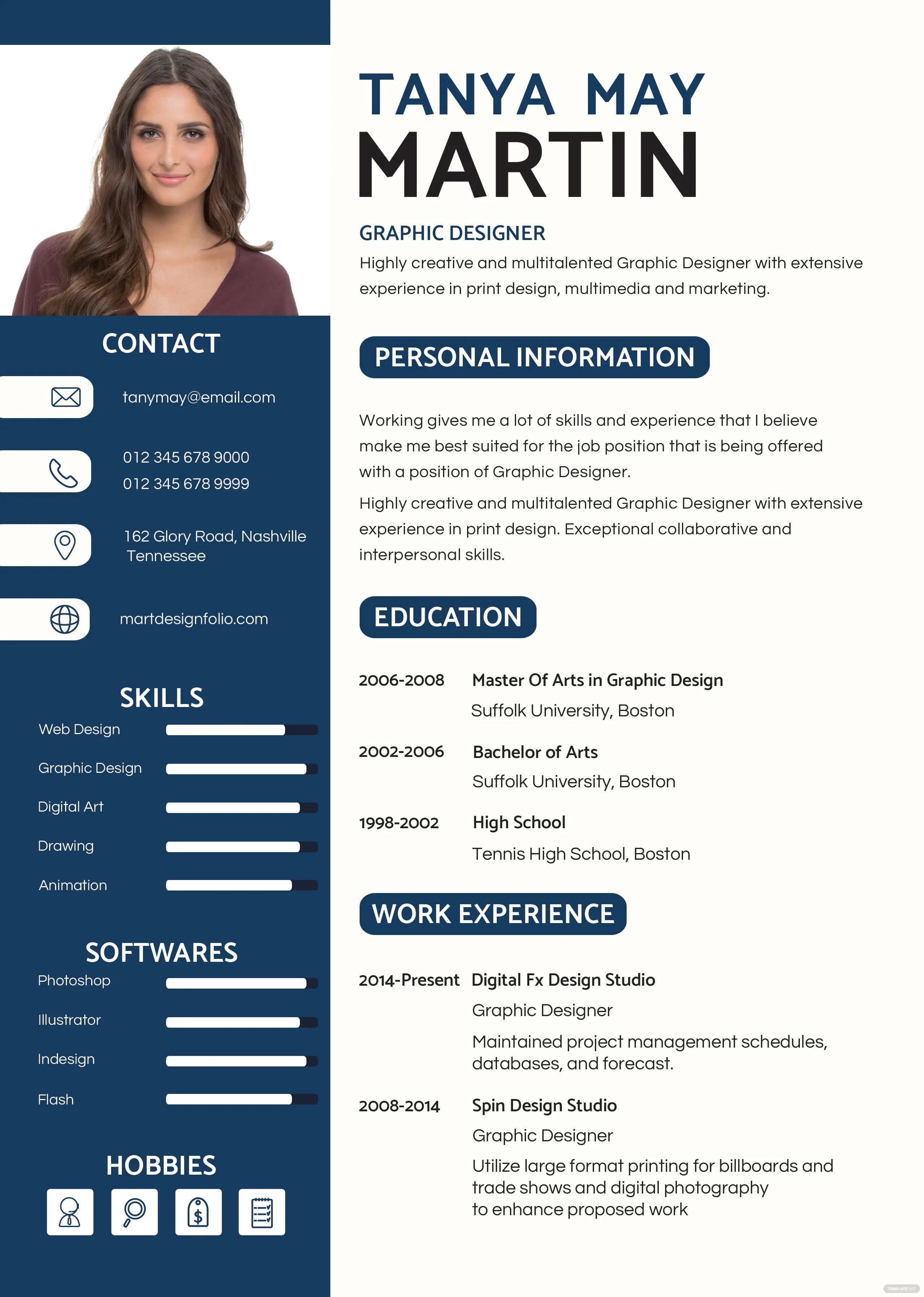 editable cv format download free doc