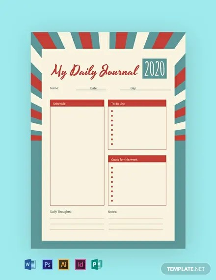 FREE Retro Journal Template Download 14+ Notebook  Journals in PSD