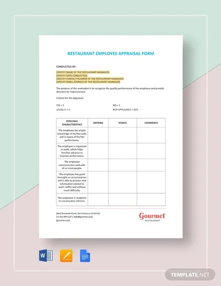 FREE Sample Employee Appraisal Form Template Download 131+ Forms in