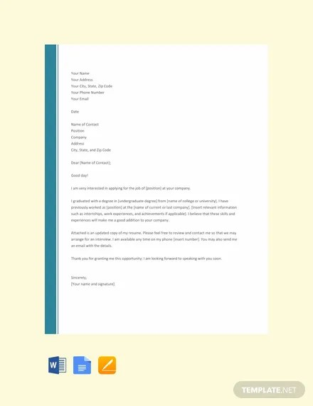 FREE Simple Resume Cover Letter Template Download 2191+ Letters in