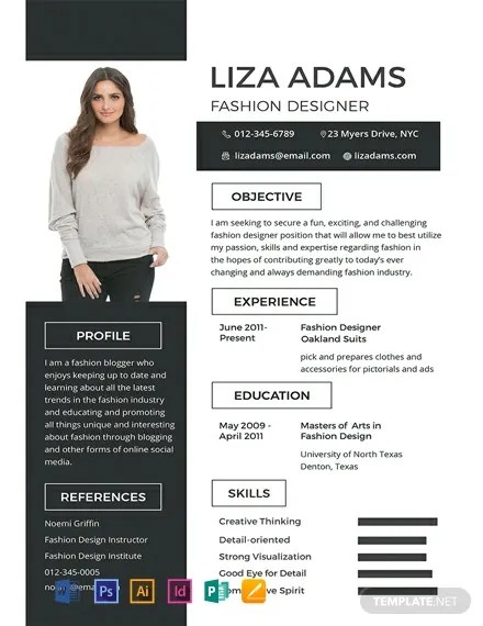 FREE Fashion Designer Resume and CV Template Download 316+ Resume
