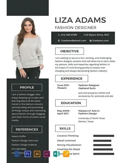 FREE Fashion Designer Resume and CV Template Download 316+ Resume