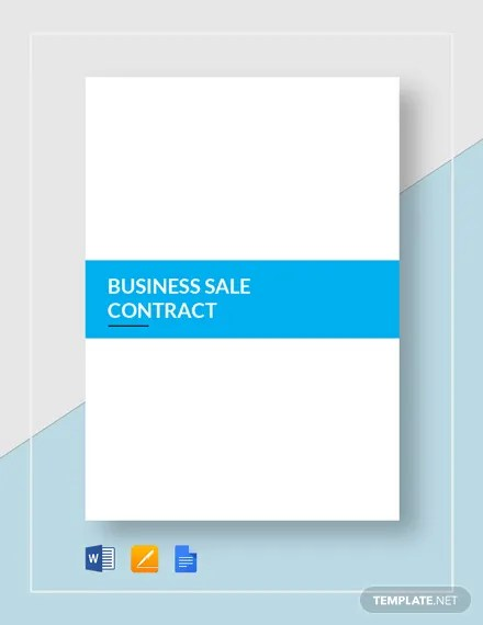 Business Sale Contract Template  Download 146+ Contracts in