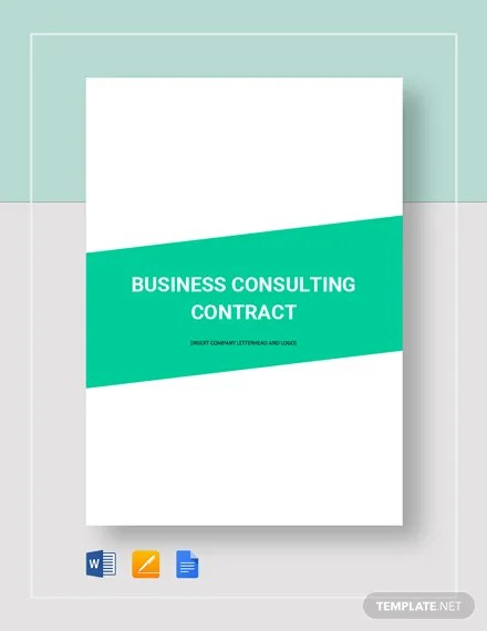 Business Consulting Contract Template  Download 118+ Contracts in