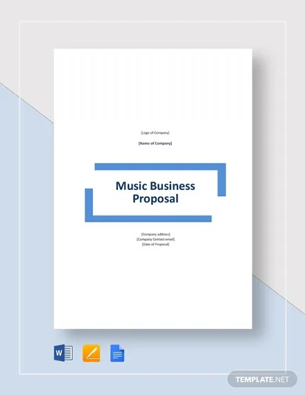 Music Business Proposal Template Download 134+ Proposals in