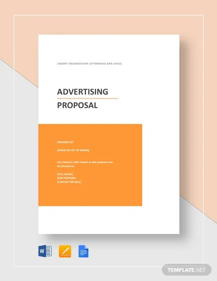 Advertising Proposal Template Download 134+ Proposals in Microsoft