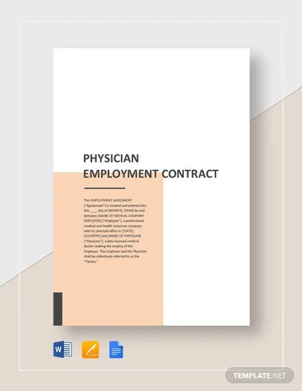 Physician Employment Contract Template  Download 226+ Contracts in