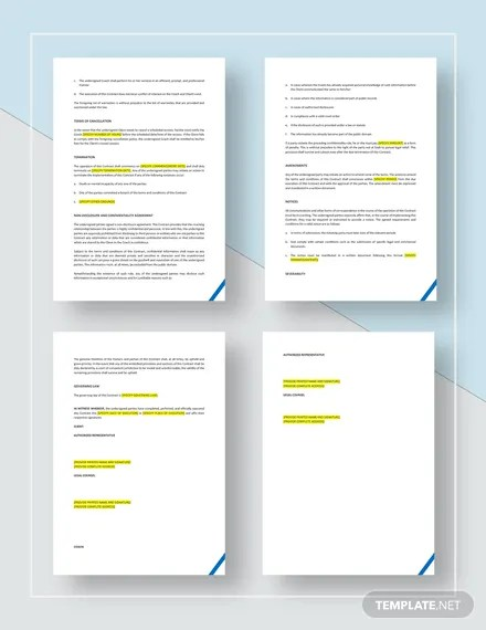 Executive Coaching Contract Template  Download 209+ Contracts in