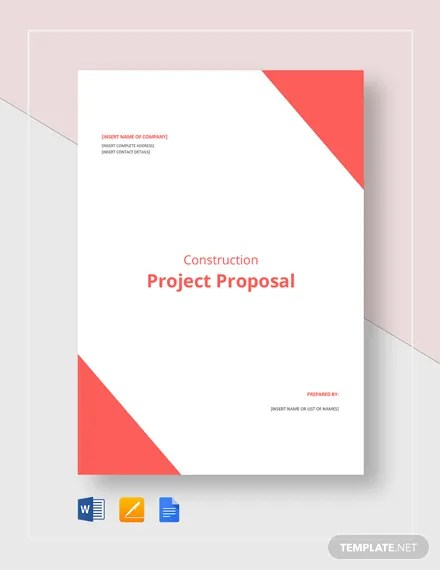 Construction Project Proposal Template Download 109+ Proposals in