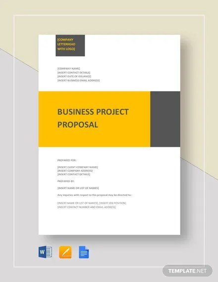 Business Project Proposal Template Download 134+ Proposals in