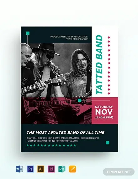 Band Flyer Template Download 306+ Flyers in Microsoft Word