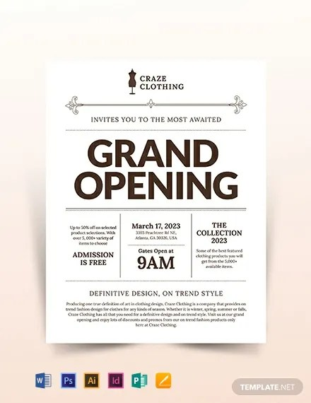 Store Opening Flyer Template Download 391+ Flyers in Microsoft Word
