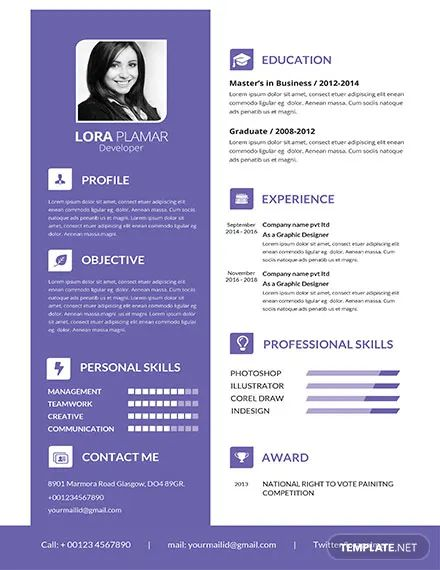 resume model template download