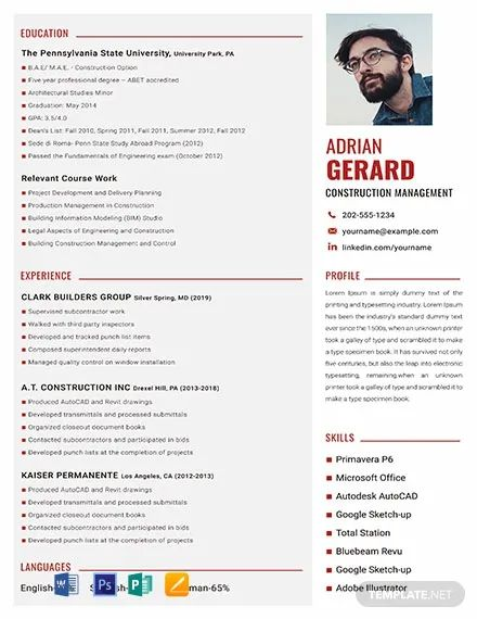 one page executive resume