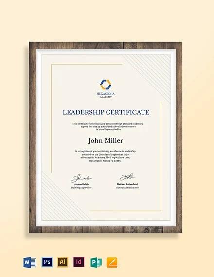 Leadership Award Certificate Template Download 205+ certificates in