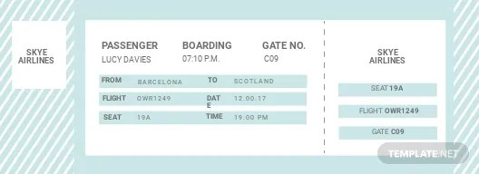 Travel Ticket Template in Adobe Photoshop, Illustrator, InDesign
