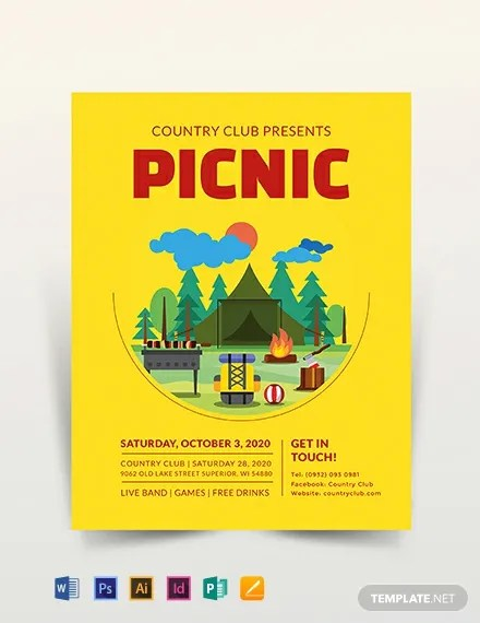 Picnic Flyer Template  Download 318+ Flyers in Microsoft Word