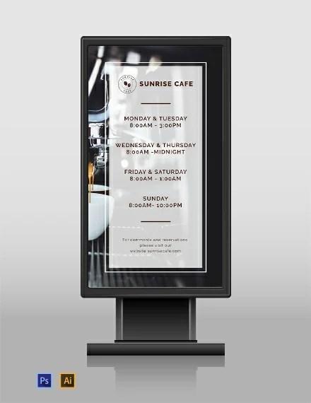 FREE Business Hours Digital Signage Template Download 28+ Digital