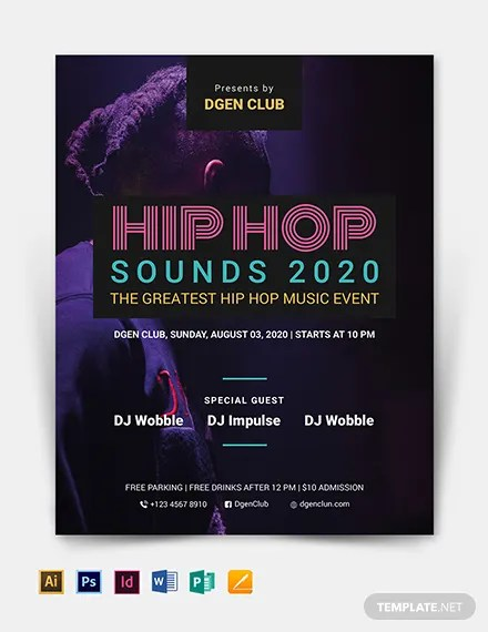 23+ Hip Hop Flyer Templates - Word, PSD, Publisher Free  Premium