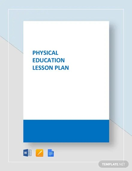Physical Education Lesson Plan Template Download 153+ Plans in
