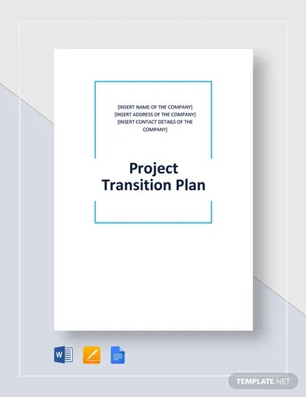 Project Transition Plan Template Download 265+ Plans in Microsoft