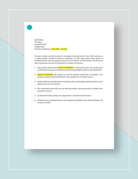 sales comp plan template - Artij-plus