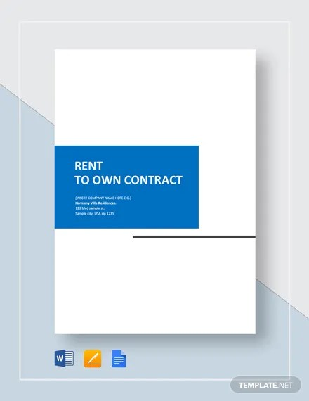 Rent to Own Home Contract Template  Download 146+ Contracts in