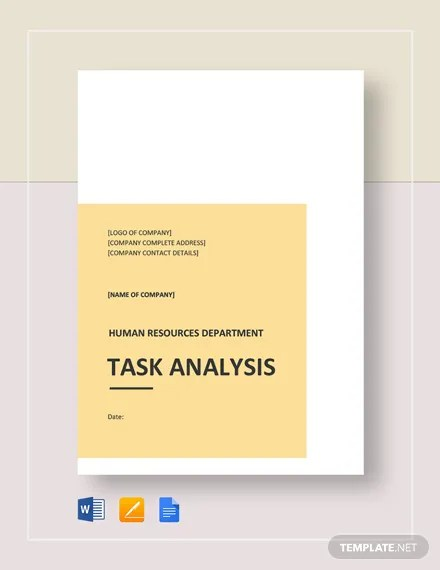 Task Analysis Template Download 133+ Analysis Templates in