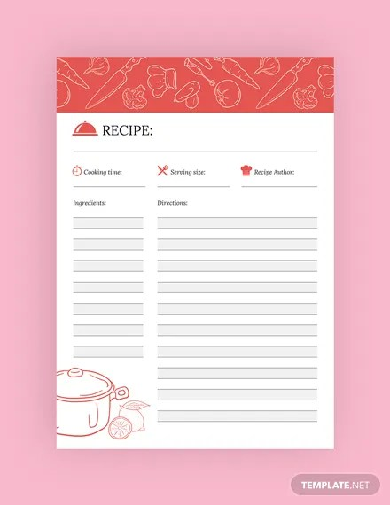 FREE Recipe Journal Template Download 13+ Notebook  Journals in