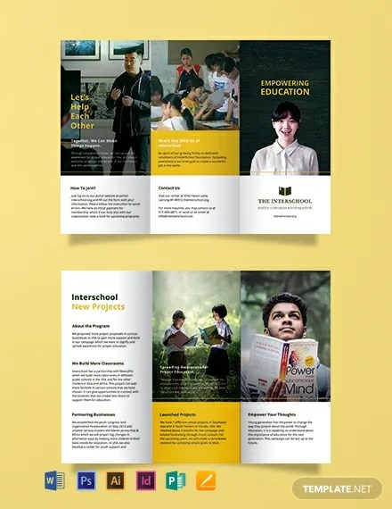 FREE Education Trifold Brochure Template Download 461+ Brochures in