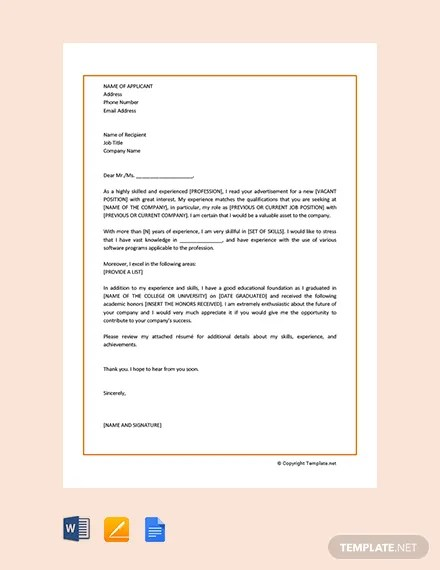 FREE Sample Motivation Letter Template Download 2128+ Letters in