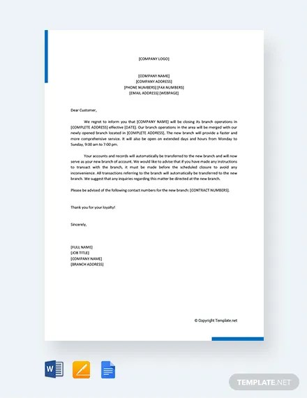 FREE Closing Business Letters to Customers Template Download 2243+