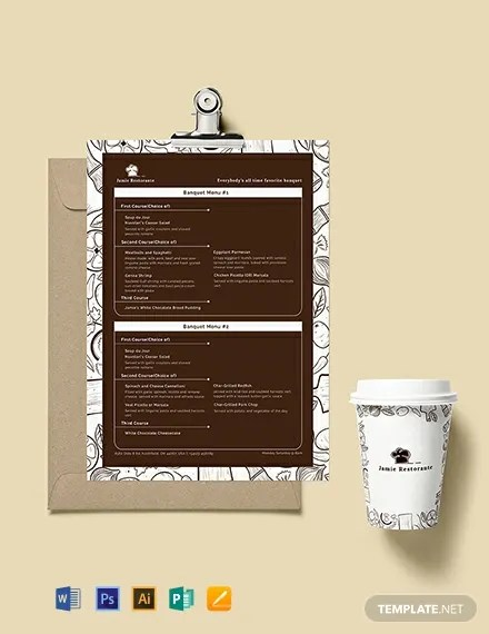 Vintage Banquet Menu Template  Download 86+ Menus in Microsoft Word
