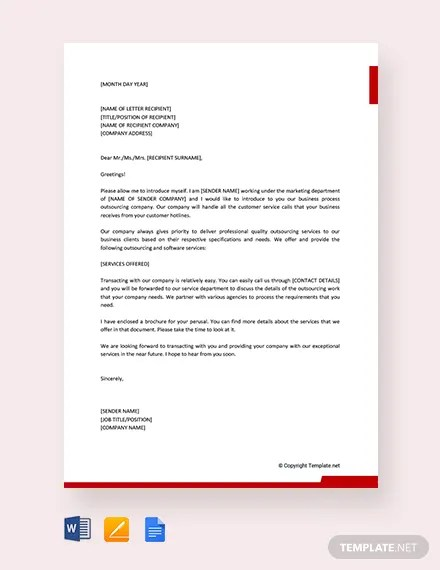 FREE Business Introduction Letter to New Clients Template Download