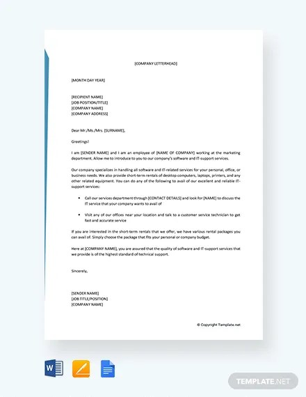business introduction letter to new clients - Pinarkubkireklamowe