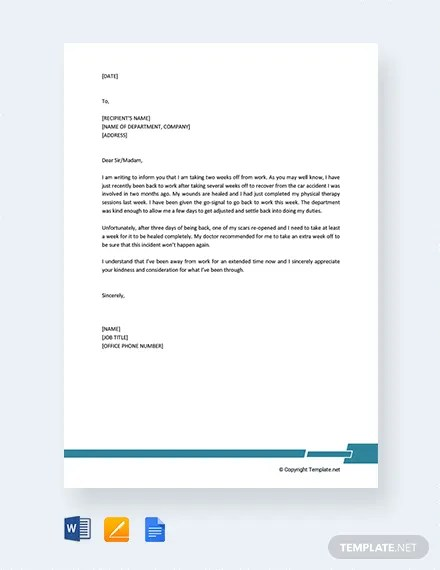 FREE Formal Excuse Letter for Work Template Download 2160+ Letters