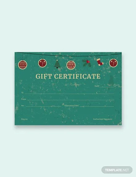 FREE Creative Christmas Gift Certificate Template in Adobe Photoshop