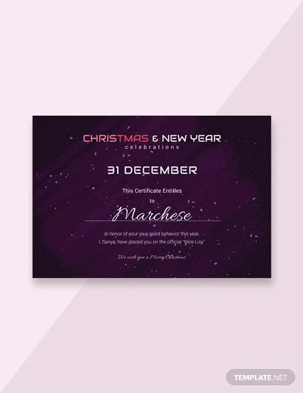 FREE Holiday Gift Certificate Template in Adobe Photoshop, Microsoft