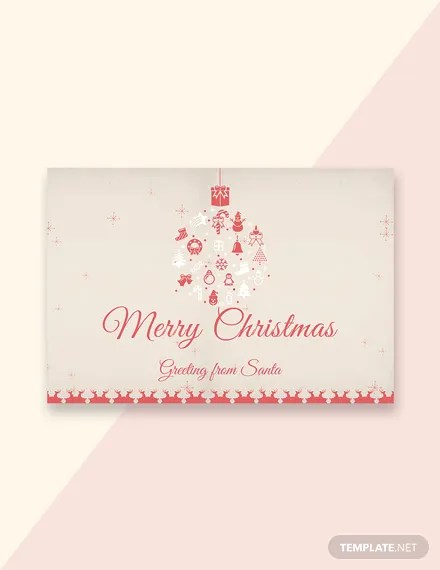 25+ FREE Christmas Greeting Card Templates Download Ready-Made