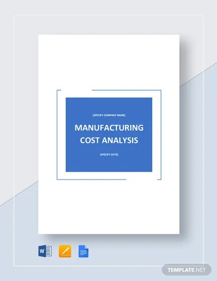 Manufacturing Cost Analysis Template Download 190+ Analysis