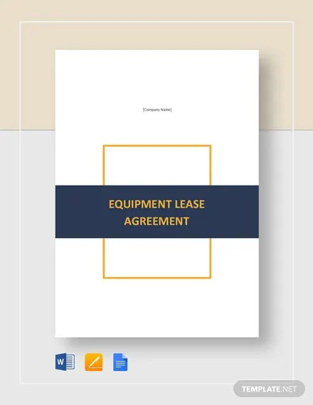 8+ Equipment Lease Templates - Free PDF, Google Docs, Apple Pages