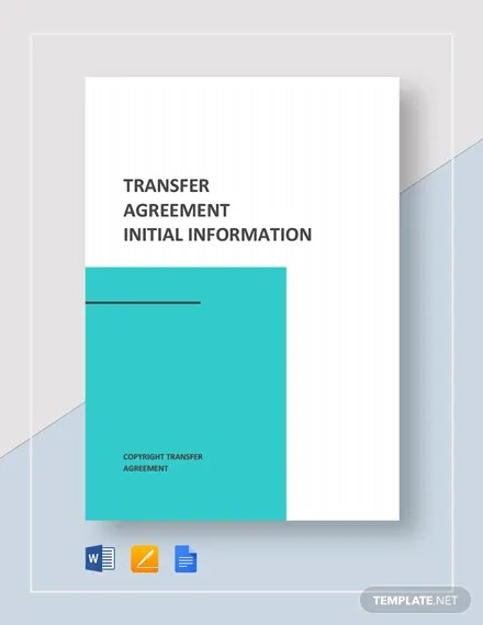 Transfer Agreement Template Download 228+ Agreements in Microsoft