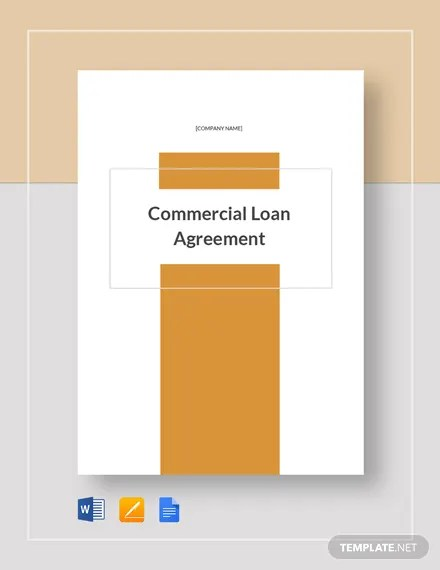 Commercial Loan Agreement Template Download 232+ Agreements in