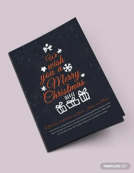 FREE Christmas Half-Fold Brochure Template Download 457+ Brochures